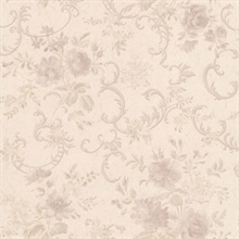 Highbury Mauve Floral Scroll