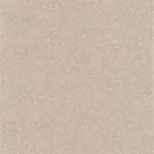 Highgate Taupe Embroidered Scroll