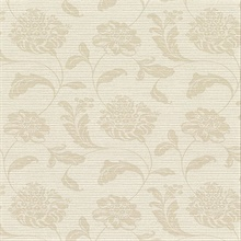 Holiday Beige Jacobean Vinyl Wallpaper