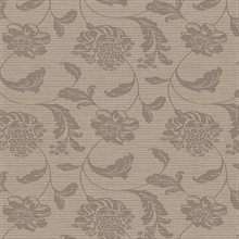 Holiday Brown Jacobean Vinyl Wallpaper