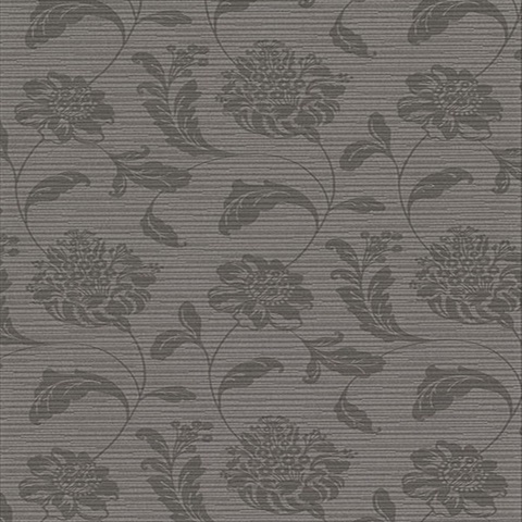 Holiday Charcoal Jacobean Vinyl Wallpaper