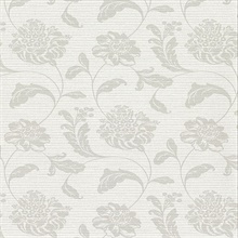 Holiday Light Grey Jacobean Vinyl Wallpaper