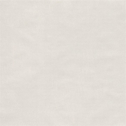 Holstein Off-White Faux Leather Wallpaper