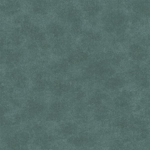 Holstein Teal Faux Leather Wallpaper
