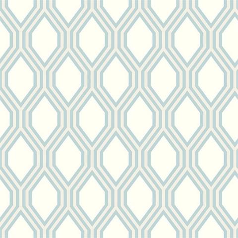 Honeycomb Light Blue Geometric