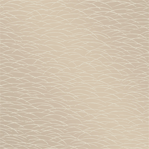 Hono Beige Abstract Wave Wallpaper