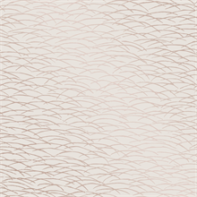 Hono Rose Gold Abstract Wave Wallpaper