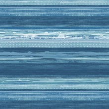 Horizon Horizontal Modern Stripe Blue Wallpaper