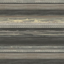 Horizon Horizontal Modern Stripe Brown Wallpaper