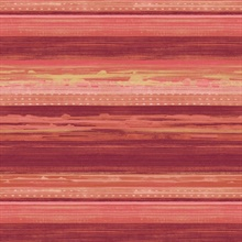 Horizon Horizontal Modern Stripe Candy Apple Wallpaper