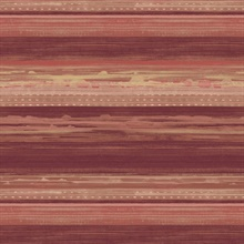 Horizon Horizontal Modern Stripe Maroon Wallpaper