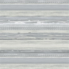 Horizon Horizontal Modern Stripe Taupe Wallpaper