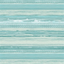 Horizon Horizontal Modern Stripe Teal Wallpaper