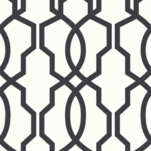 Hourglass Trellis Wallpaper - Black