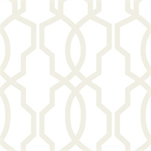 Hourglass Trellis Wallpaper - Pearl
