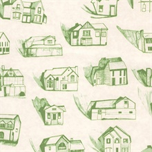 houses green/cream