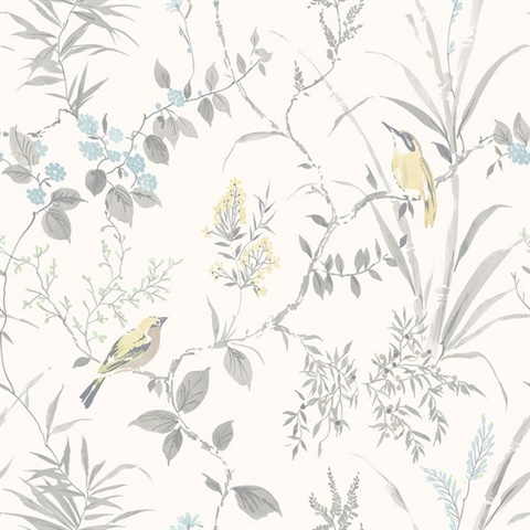 Imperial Garden Grey Botanical