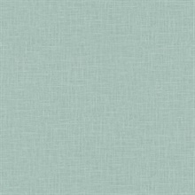 Indie Faux Textured Linen Aqua Blue Wallpaper