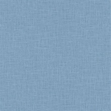 Indie Faux Textured Linen Blue Wallpaper