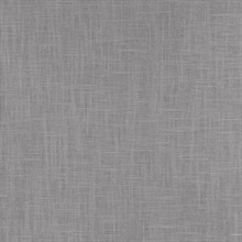 Indie Faux Textured Linen Charcoal Grey Wallpaper