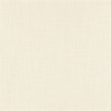 Indie Faux Textured Linen Cream Wallpaper