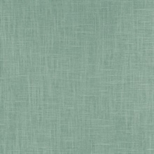 Indie Faux Textured Linen Green Wallpaper