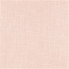 Indie Faux Textured Linen Light Pink Wallpaper