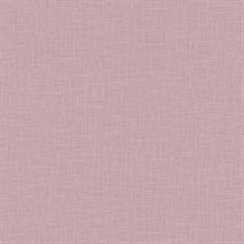 Indie Faux Textured Linen Purple Wallpaper