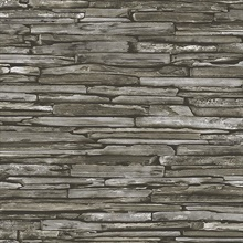 Industrial Dark Green Stacked Stone