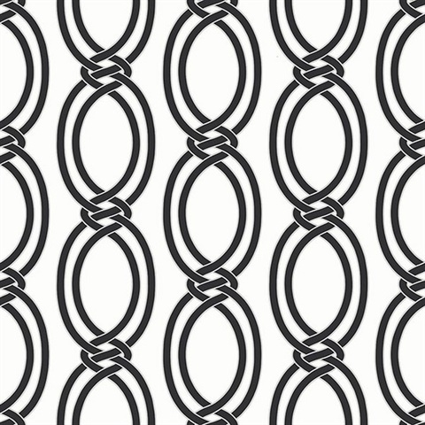 Infinity Black Geometric Stripe