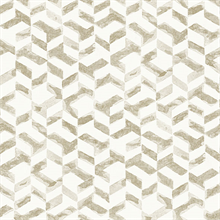 Instep Champagne & Gold Abstract Geometric Wallpaper