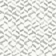 Instep Platinum Abstract Geometric Wallpaper