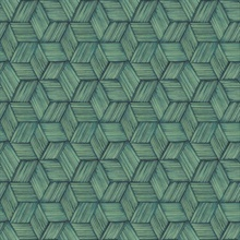 Intertwined Dark Green Geometric