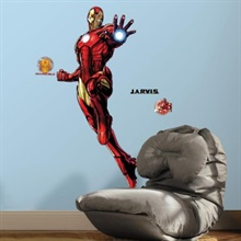 Iron Man Giant Peel and Stick Giant Wall Decals with Glow