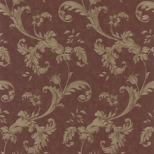 Isleworth Burgundy Floral Scroll