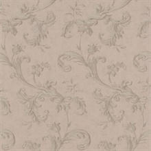 Isleworth Grey Floral Scroll