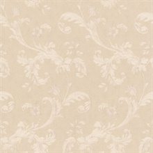 Isleworth White Floral Scroll
