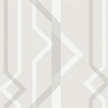 Ivory Shape Shifter Geometric Wallpaper