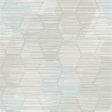 Jabari Grey Geometric Faux Grasscloth Wallpaper