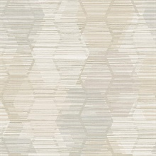 Jabari Taupe Geometric Faux Grasscloth Wallpaper