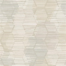 Jabari Wheat Geometric Faux Grasscloth Wallpaper