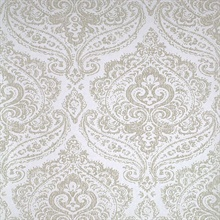 Jamilah Champagne Damask Wallpaper