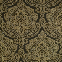 Jamilah Dark Brown Damask Wallpaper