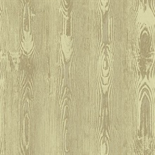 Jaxson Gold Faux Wood Wallpaper
