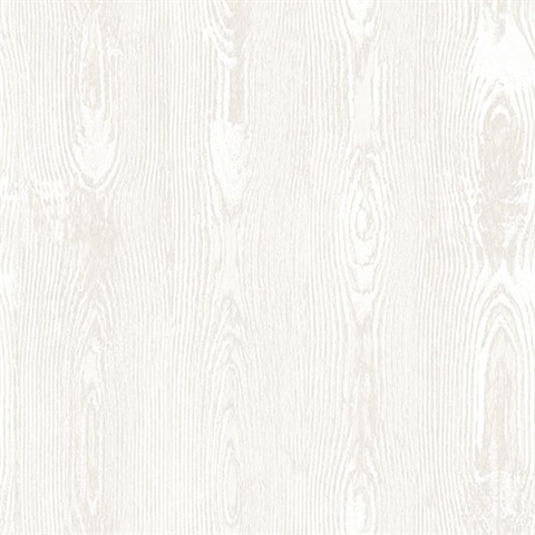 Jaxson White Faux Wood Wallpaper