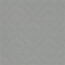 Kairo Grey Geometric Wallpaper