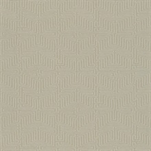 Kairo Taupe Geometric Wallpaper