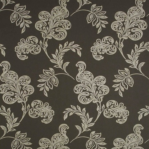 Karimah Brown Jacobean Wallpaper