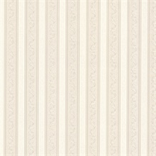 Kendra Neutral Scrolling Stripe