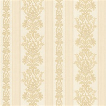 Kensington Beige Damask Stripe